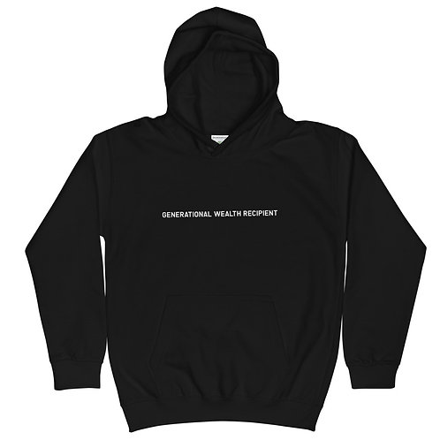 YOUTH Generational Wealth Recipient Hoodie (White Logo)