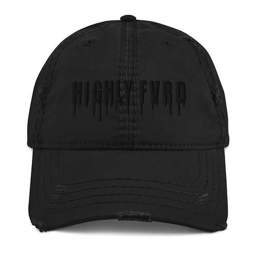 HighlyFVRD Drippy Distressed Dad Hat (Black Logo)