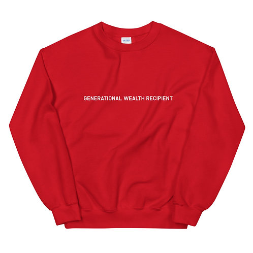 Generational Wealth Recipient Sweatshirt (White Logo)