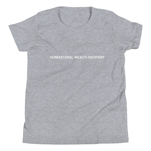 YOUTH Generational Wealth Recipient T-Shirt (White Logo)
