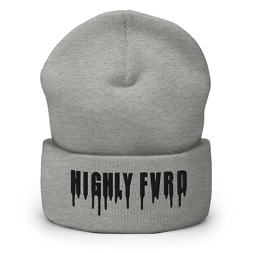 Highly FVRD Cuffed Beanie (Black Logo)