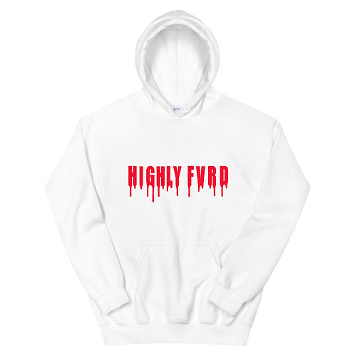 Highly FVRD Drippy Hoodie (Red Logo)