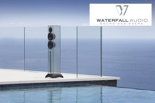 waterfall - glass speakers