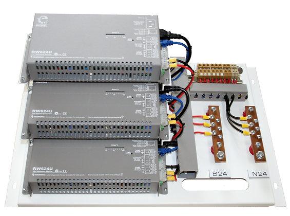 Rectifier Panel w/ 3 x Enatel RW624U