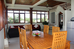 Dining room and Sun room