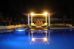 Gazebo and Pool at night