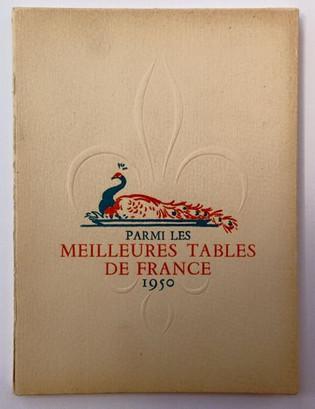Meilleures tables de France 1950
