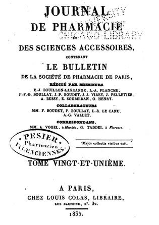 La cucina molecolare francese nel  1835