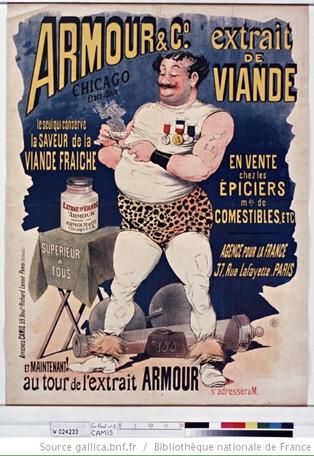 Affiches publicitaires extrait de boeuf