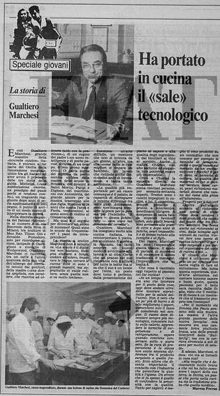 Gualtiero Marchesi cuoco e imprenditore