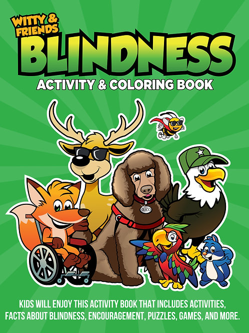 Witty & Friends - Blindness Activity & Coloring Book