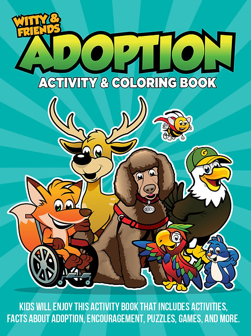 Witty & Friends - Adoption Activity & Coloring Book