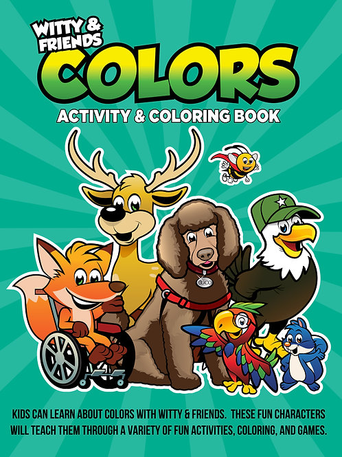 Witty & Friends - Colors Activity & Coloring Book