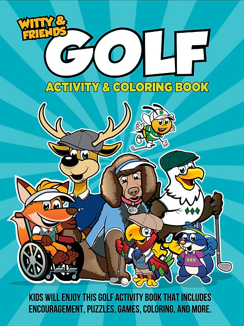 Witty & Friends - Golf Activity Coloring Book