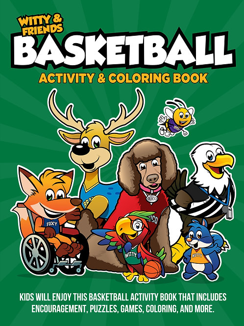 Witty & Friends - Basketball Activity Coloring Book