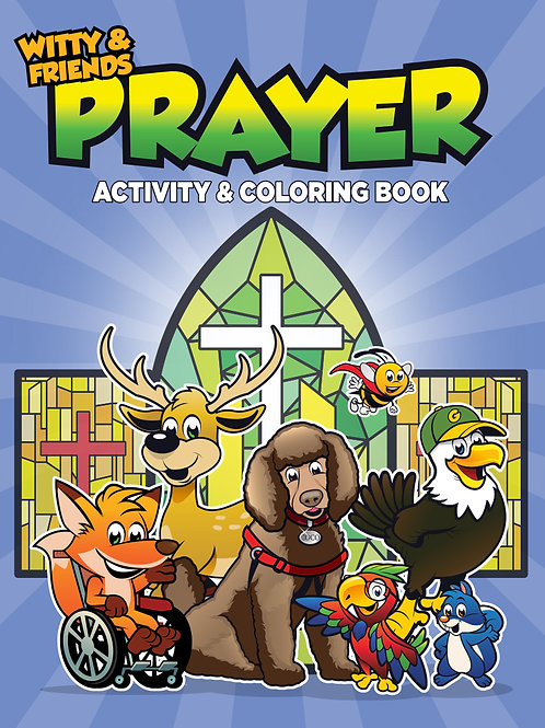 Witty & Friends - Prayer - Activity Coloring Book