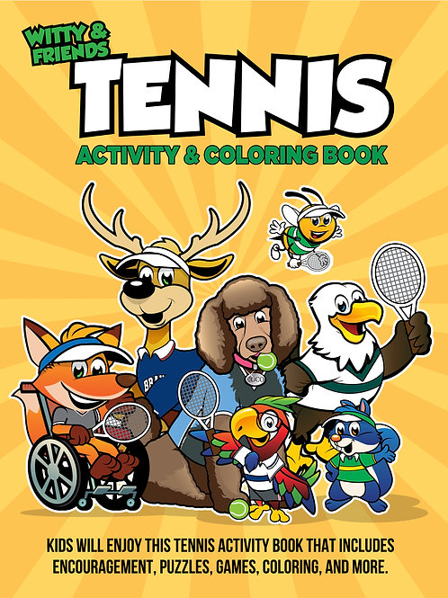 Witty & Friends - Tennis Activity Coloring Book