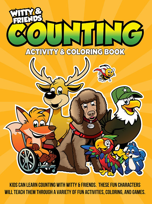 Witty & Friends - Counting Activity & Coloring Book