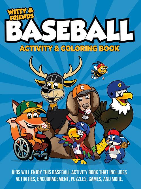 Witty & Friends - Baseball Activity Coloring Book