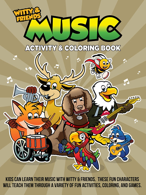 Witty & Friends - Music Activity & Coloring Book