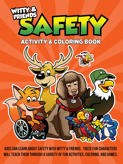 Witty & Friends - Safety Activity Coloring Book