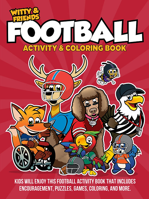 Witty & Friends - Football Activity Coloring Book