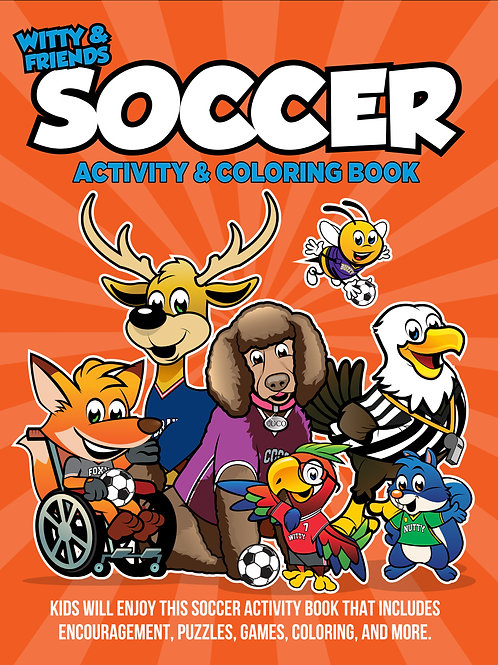 Witty & Friends - Soccer Activity Coloring Book
