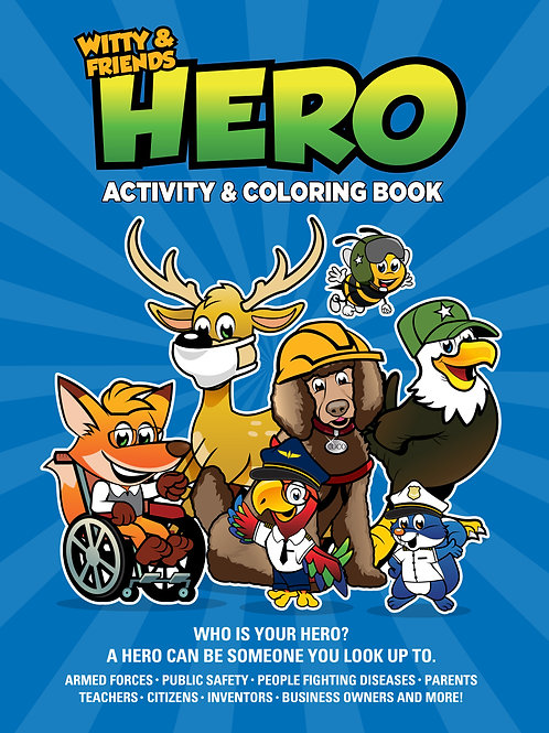 Witty & Friends - Hero Activity & Coloring Book