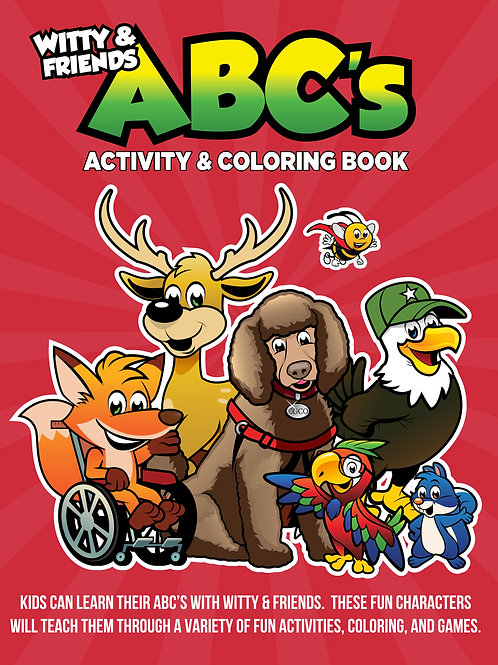 Witty & Friends - ABC's Activity & Coloring Book