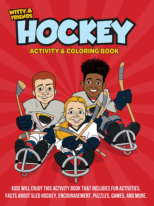 Witty & Friends - Hockey Activity Coloring Book