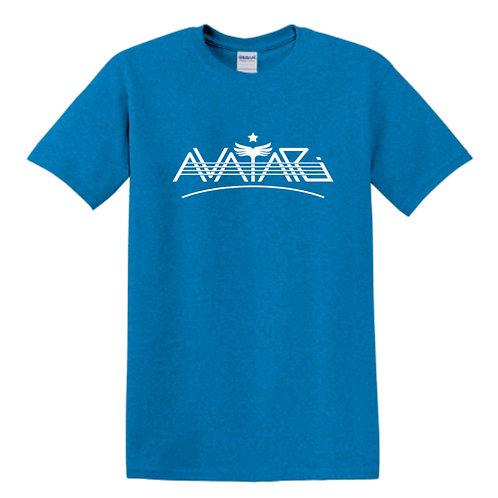 T-shirt - Sky blue w/ white Avatari logo (Unisex)