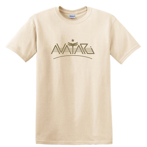 T-shirt - Natural color w/ gold Avatari logo (Women's)