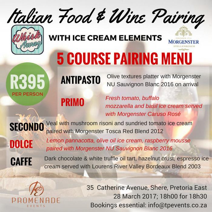 Italian Food, Wine & Ice Cream - 28 March