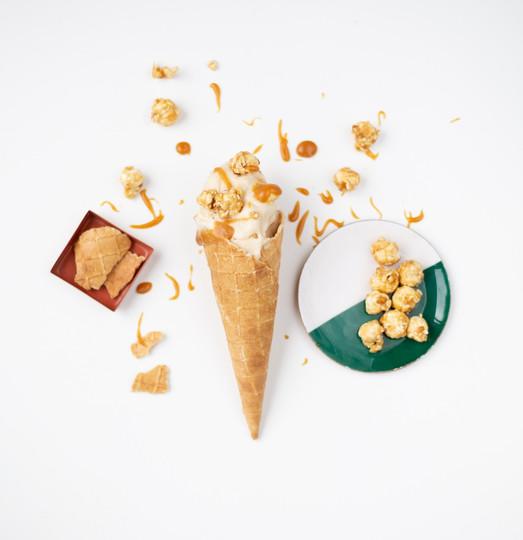 Caramel Popcorn Ice Cream