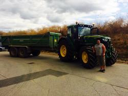 plant hire kent, tractor trailor
