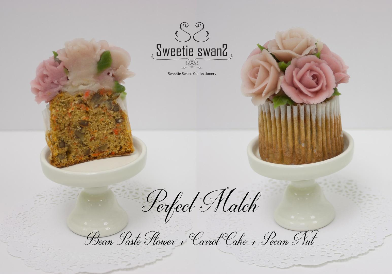 Korean Bean Paste Flower Cupcake