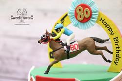 Horse racing WIN cake-2