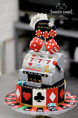 Casino theme cake-1