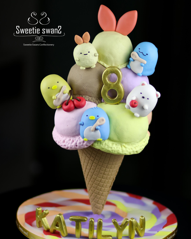 ice cream cone cake-1