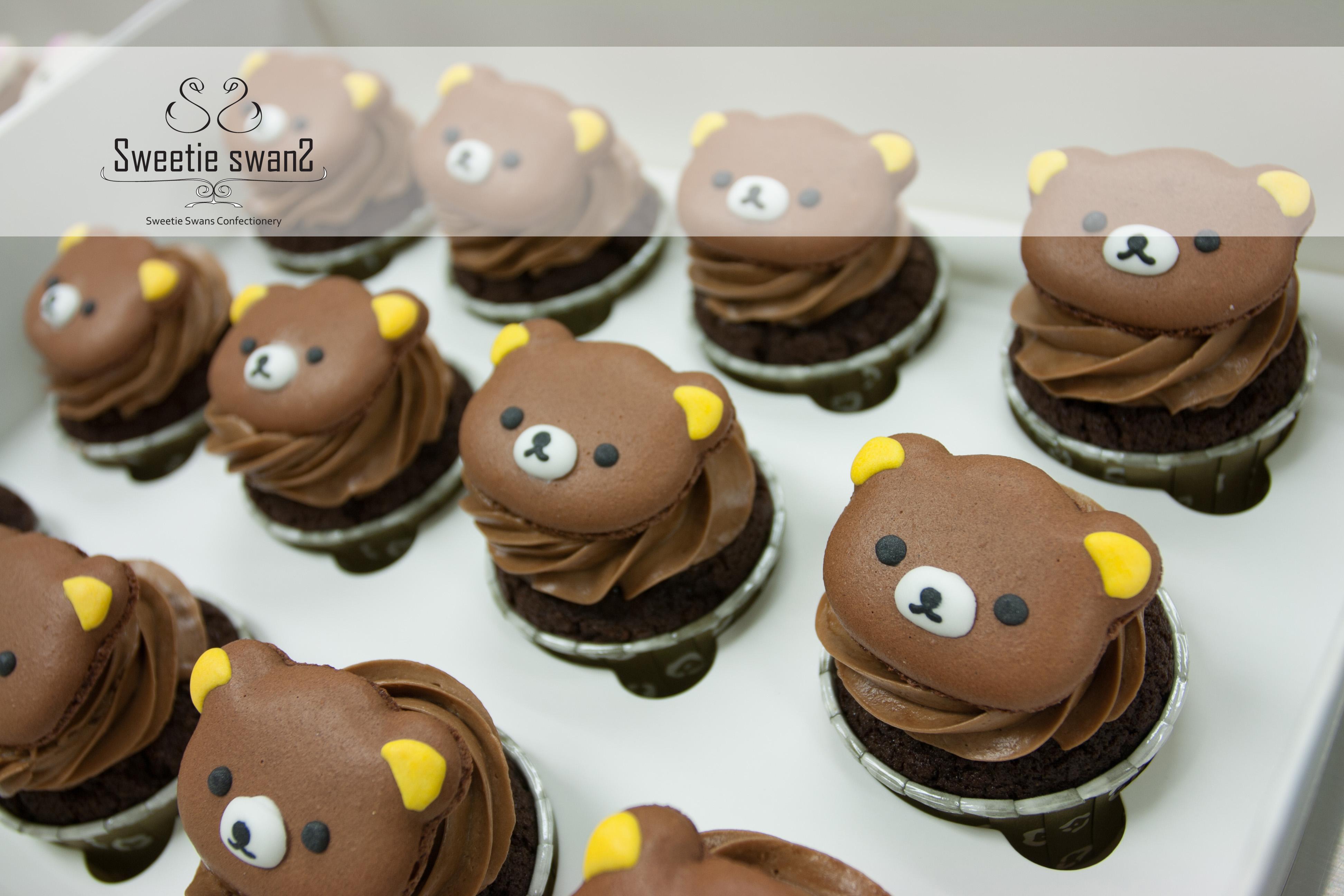 Macaron on cupcake-1