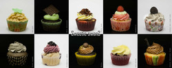 Assorted cupcake poster