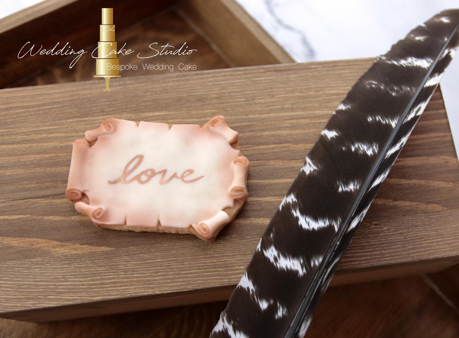 Love scroll cookie