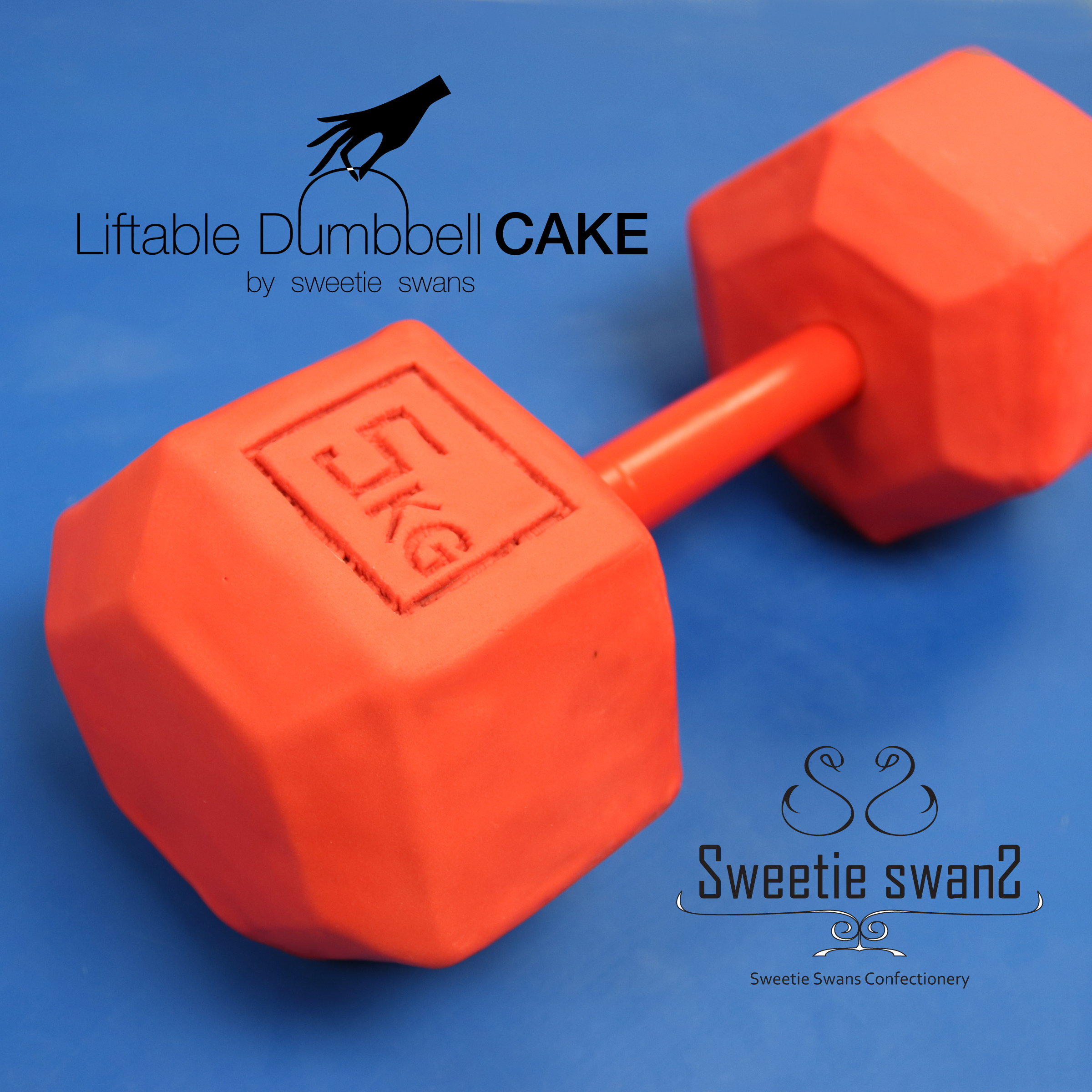 Liftable dumbbell cake-1