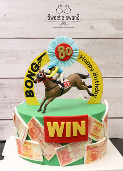 Horse racing WIN cake-1