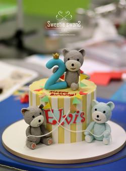Bear cake for Elvis-3