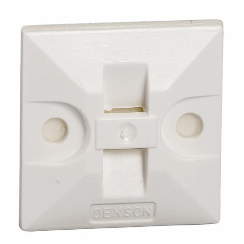 DXN3200B Bases Adhesivas Blancas Caja x 100 Uni.