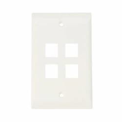 Faceplate -  4 ports Sin Label Color Blanco