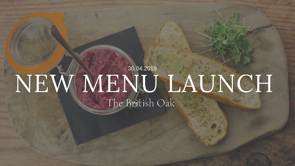 New menu launch at The British Oak