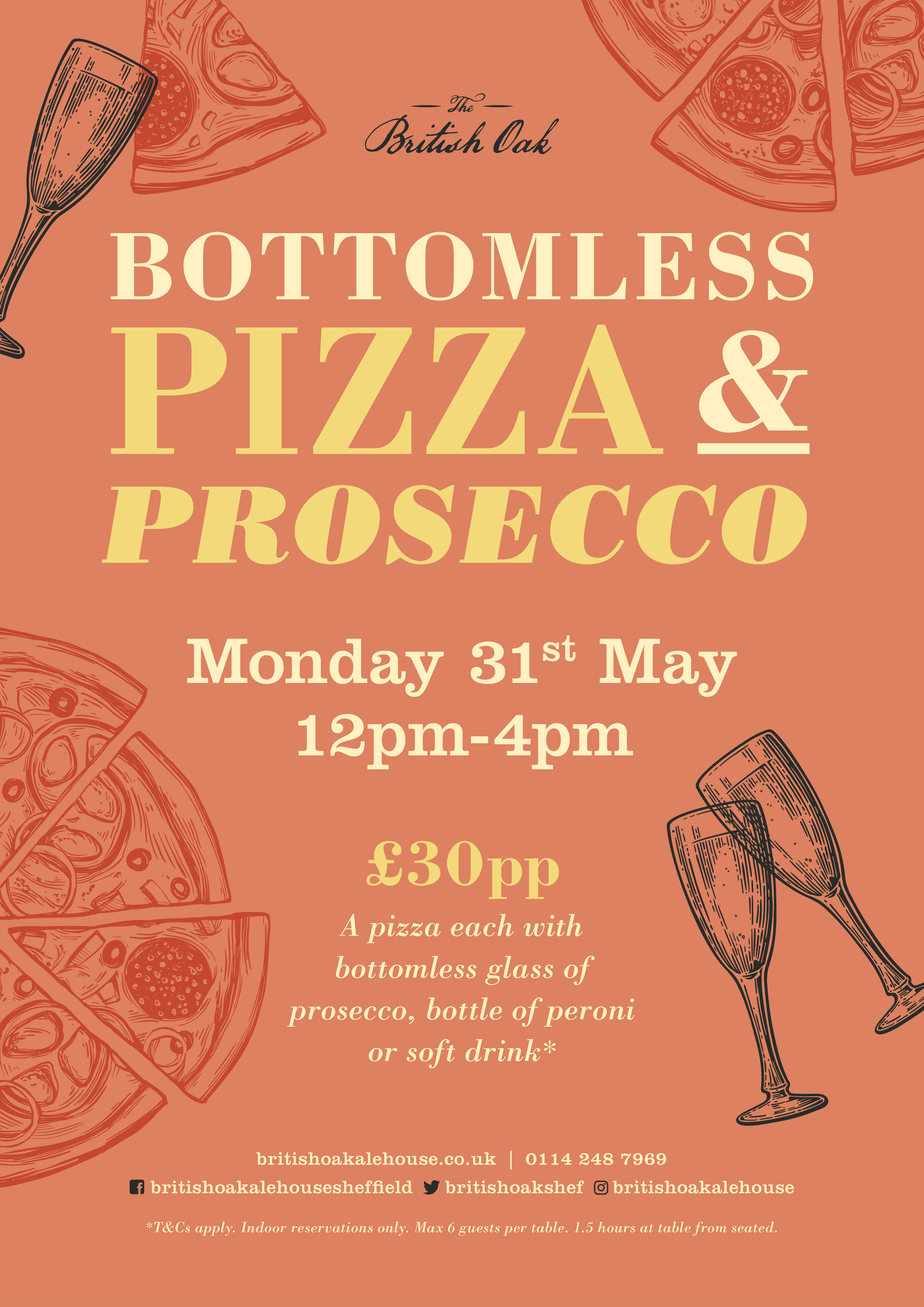 Bottomless Pizza and Prosecco