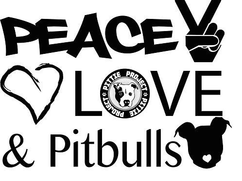 PeaceLove and Pitbulls Stickers!